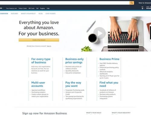 Amazon Business er målrettet B2B salg